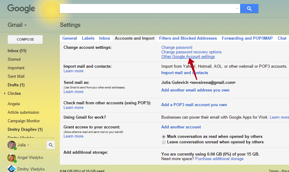 How to Use Gmail Email Settings in EasyMail7 ⋆ GLOCKSOFT KB