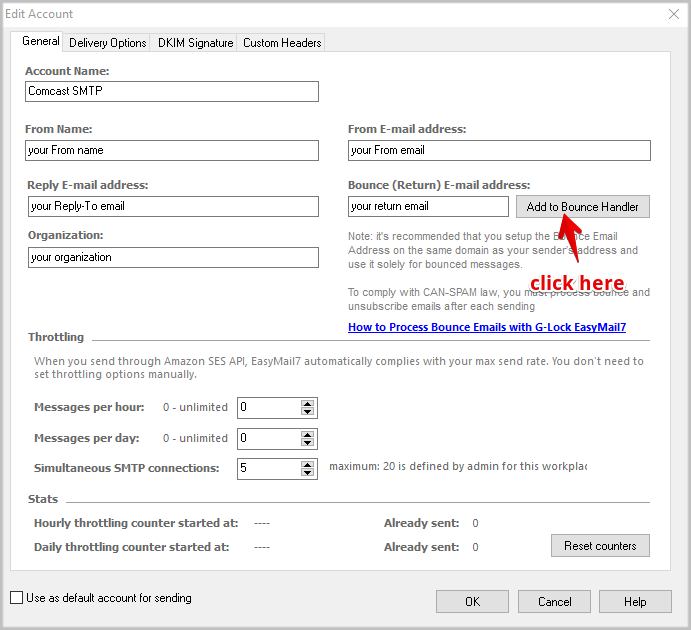 How To Use Comcast Email Settings In Easymail7 Glocksoft Kb