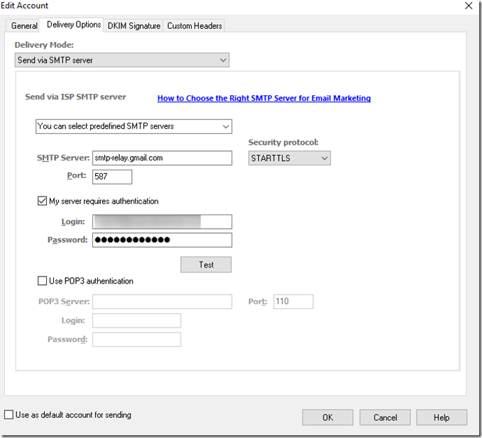 My Gmail SMTP settings don't work in EasyMail7 ⋆ GLOCKSOFT KB